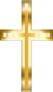 picture gold cross